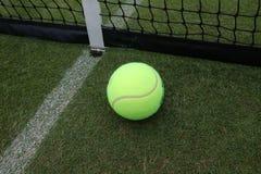 Tennis ball on grass tennis court. Tennis ball on grass  tennis court stock photography