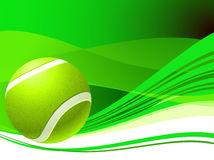 Tennis Ball on Green Abstract Background. 