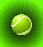 Tennis Ball on Green Background Royalty Free Stock Image