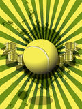 Tennis ball on a green background Royalty Free Stock Photos