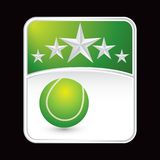 Tennis ball on green star background Royalty Free Stock Photo