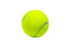Tennis ball. A green tennis ball on the white background Royalty Free Stock Photos