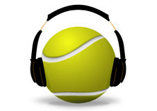Tennis ball and headset Stock Photo
