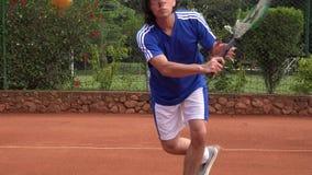 Tennis Ball Hits Camera stock footage
