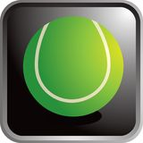 Tennis ball icon. Web icon of a tennis ball Royalty Free Stock Image