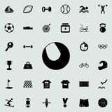Tennis ball icon. Sport icons universal set for web and mobile. On colored background vector illustration