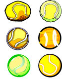 Tennis Ball Images. Assorted Illustrated Tennis Ball Images Stock Image