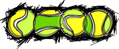 Tennis Ball Images. Illustrated Tennis Ball Images Vector Royalty Free Stock Photo