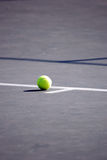 Tennis Ball Inside Baseline Stock Photography
