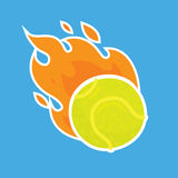 Tennis ball isolated vector team icon illustration Royalty Free Stock Photo