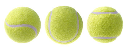 Tennis ball, isolated on white Royalty Free Stock Photography
