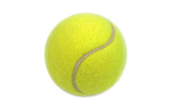 Tennis ball isolated on white background Royalty Free Stock Photos