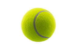 Tennis ball isolated on white Royalty Free Stock Image