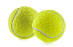 Tennis ball isolated white background - photography.  stock image