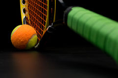 Tennis ball for kids with tennis racket Royalty Free Stock Images