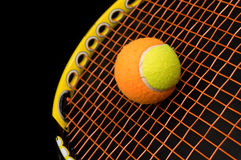 Tennis ball for kids with tennis racket Royalty Free Stock Photo