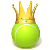 Tennis ball king 3d illustration Stock Photo