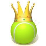 Tennis ball king 3d illustration. Over white background Stock Photo