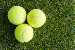 Tennis ball on the lawn Royalty Free Stock Photos