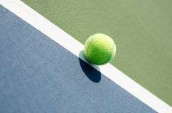 Tennis ball on line Royalty Free Stock Images