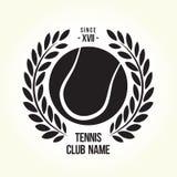 Tennis ball logo Stock Images