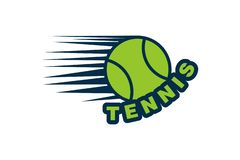 Tennis ball Logo Designs Inspiration Isolated on White Background. Tennis ball Logo Designs Inspiration Isolated on White Background vector illustration