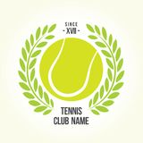 Tennis ball logo Royalty Free Stock Photos