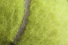 Tennis Ball. Macro clearly showing fibres Royalty Free Stock Photo