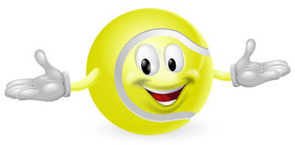 Tennis Ball Man Stock Photo
