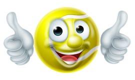 Tennis Ball Man Cartoon Character Stock Image