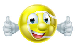 Tennis Ball Man Character Royalty Free Stock Images