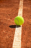 Tennis ball is on the markup vertical 0159 Royalty Free Stock Photography