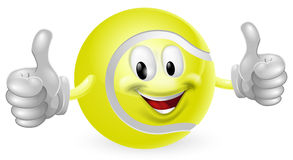 Tennis Ball Mascot Royalty Free Stock Photography