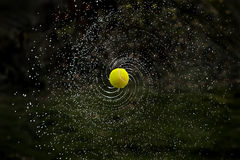 Tennis Ball Milky Way stock photo