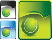 Tennis ball and multicolored rip curl backgrounds Stock Photos