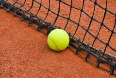Tennis Ball And Net Stock Photos