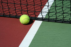 Tennis Ball out of bounds Royalty Free Stock Photography