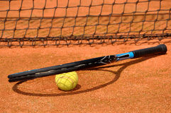 Tennis ball and racket Royalty Free Stock Image