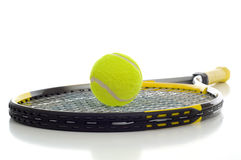 Tennis Ball and Racket Royalty Free Stock Images