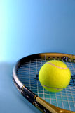 Tennis ball with racket Royalty Free Stock Photography