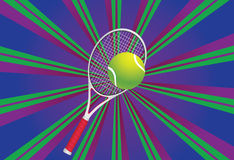 Tennis Ball and Racket Stock Image