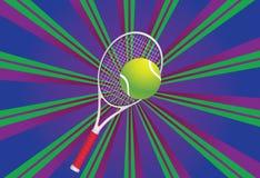 Tennis Ball and Racket Stock Image
