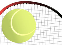 Tennis Ball and Racket Stock Photography