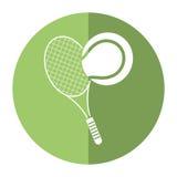 Tennis ball racket sport shadow Stock Image