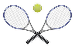 Tennis Ball & Rackets Stock Photos
