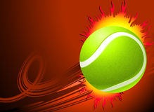 Tennis Ball on Red Background Royalty Free Stock Photos
