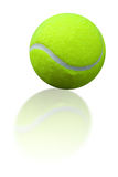 Tennis ball reflection Royalty Free Stock Photography