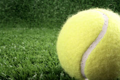 Tennis ball on right Stock Photos