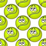 Tennis ball seamless pattern Royalty Free Stock Image