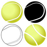 Tennis ball set Stock Photos
